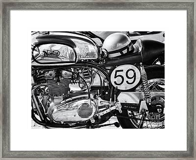 1963 Manx Norton Monochrome Framed Print by Tim Gainey