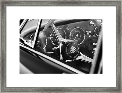 1963 Porsche 356 B 1600 Coupe Steering Wheel Emblem Framed Print by Jill Reger