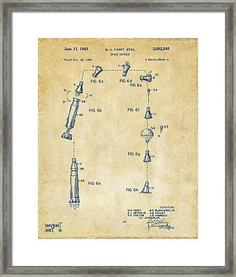1963 Space Capsule Patent Vintage Framed Print by Nikki Marie Smith