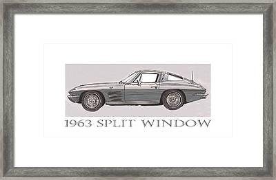 1963 Split Window Framed Print by Jack Pumphrey