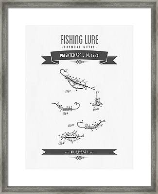 1964 Fishing Lure Patent Drawing Framed Print by Aged Pixel