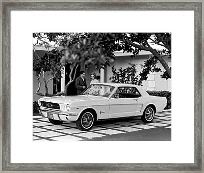 1964 Ford Mustang Framed Print by Underwood Archives