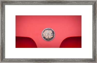 1964 Iso A3c Drogo Coupe Emblem Framed Print by Jill Reger