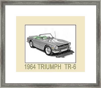 1964 Triumph T R 6 Framed Print by Jack Pumphrey