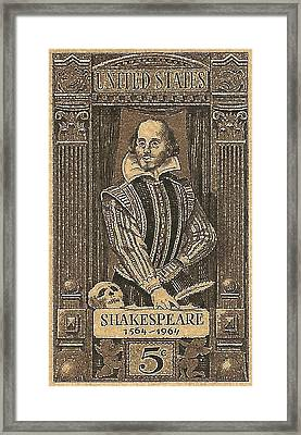 1964 William Shakespeare Postage Stamp Framed Print by David Patterson