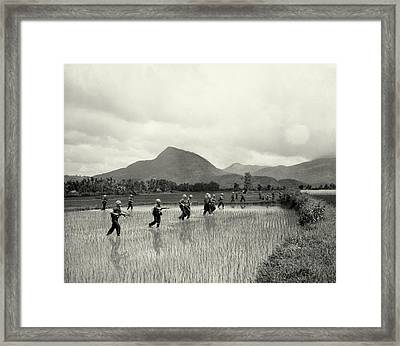 1965 1st Cavalry Division In Vietnam Framed Print by Historic Image