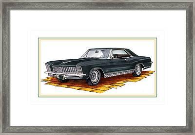 1965 Buick Riviera Custom Framed Print by Jack Pumphrey