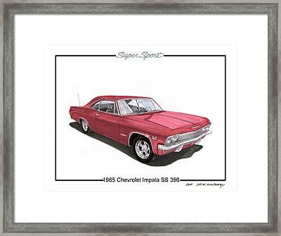 1965 Chevrolet Impala S S 396 Framed Print by Jack Pumphrey