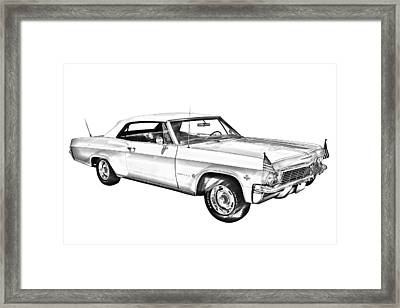 1965 Chevy Impala 327 Convertible Illuistration Framed Print by Keith Webber Jr