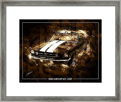 1965 Ford Shelby Mustang Gto-350 #5 Framed Print by Gary Bodnar