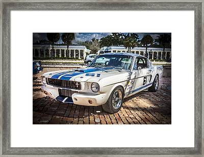 1965 Ford Shelby Mustang  Framed Print by Rich Franco