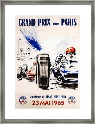 1965 Grand Prix De Paris Framed Print by Georgia Fowler