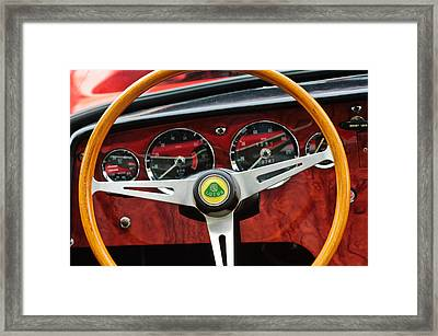 1965 Lotus Elan S2 Steering Wheel Emblem Framed Print by Jill Reger