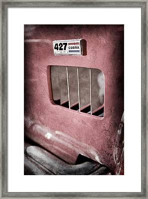 1965 Shelby 427 Sc Cobra Reproduction Emblem Framed Print by Jill Reger