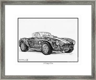 1965 Shelby Ac Cobra Framed Print by J McCombie