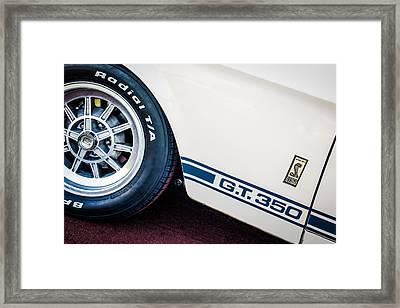 1965 Shelby Gt350 Side Emblem Framed Print by Jill Reger