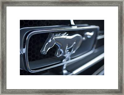 1965 Shelby Prototype Ford Mustang Grille Emblem 2 Framed Print by Jill Reger