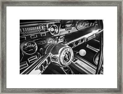 1965 Shelby Prototype Ford Mustang Steering Wheel Emblem -0314bw Framed Print by Jill Reger