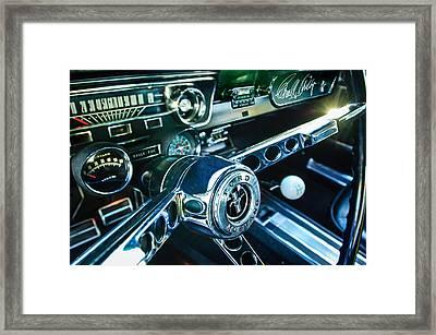 1965 Shelby Prototype Ford Mustang Steering Wheel Emblem 2 Framed Print by Jill Reger