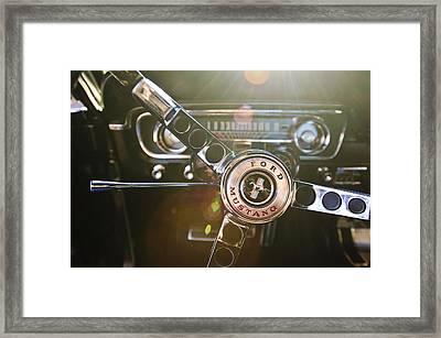 1965 Shelby Prototype Ford Mustang Steering Wheel Emblem Framed Print by Jill Reger