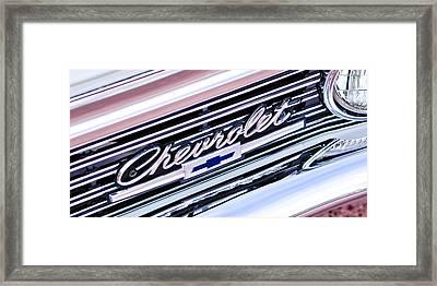 1966 Chevrolet Biscayne Front Grille Framed Print by Jill Reger