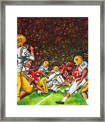 1966 Cotton Bowl Lsu Vs. Arkansas Framed Print by Big 88 Artworks