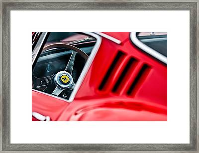 1966 Ferrari 275 Gtb Steering Wheel Emblem -0563c Framed Print by Jill Reger