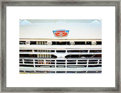 1966 Ford F100 Pickup Truck Grille Emblem Framed Print by Jill Reger