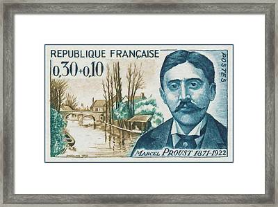 1966 Marcel Proust 1871-1922 Framed Print by Lanjee Chee