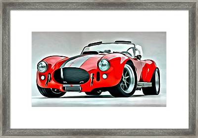 1966 Shelby Cobra 427 Framed Print by Florian Rodarte