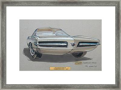 1967 Barracuda  Plymouth Vintage Styling Design Concept Rendering Sketch Fred Schimmel Framed Print by ArtFindsUSA