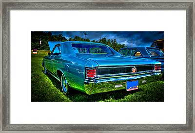 1967 Chevrolet Chevelle Ss Framed Print by David Patterson