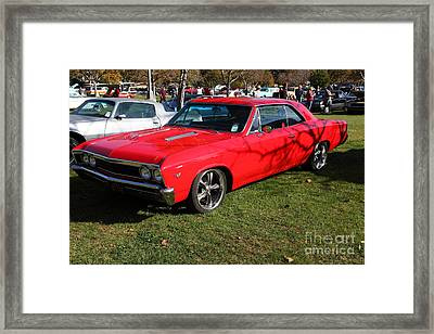 1967 Chevrolet Chevelle Ss Hotrod 5d26460 Framed Print by Wingsdomain Art and Photography