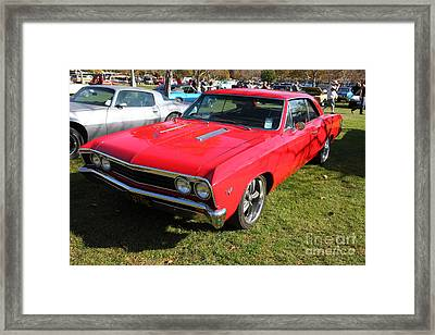 1967 Chevrolet Chevelle Ss Hotrod 5d26461 Framed Print by Wingsdomain Art and Photography
