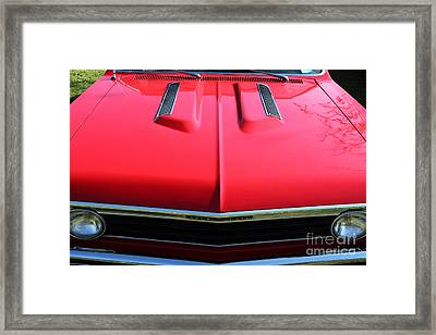 1967 Chevrolet Chevelle Ss Hotrod 5d26467 Framed Print by Wingsdomain Art and Photography