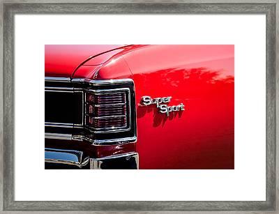 1967 Chevrolet Chevelle Ss Taillight Emblem -0468c Framed Print by Jill Reger