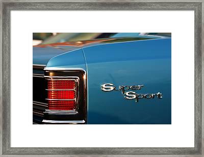 1967 Chevrolet Chevelle Super Sport Framed Print by Gordon Dean II