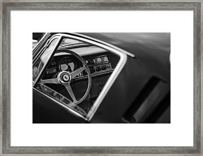 1967 Ferrari 275 Gtb-4 Berlinetta Steering Wheel Framed Print by Jill Reger
