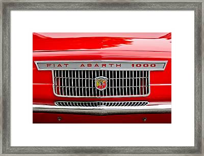 1967 Fiat Abarth 1000 Otr Grille Framed Print by Jill Reger