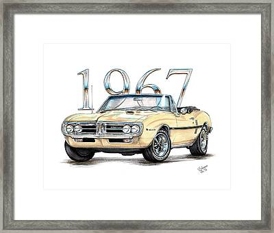 1967 Firebird Ho Convertible Framed Print by Shannon Watts