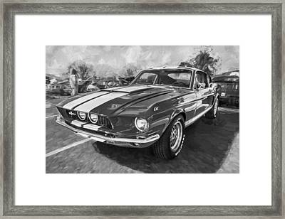 1967 Ford Shelby Mustang Gt500 Painted Bw Framed Print by Rich Franco