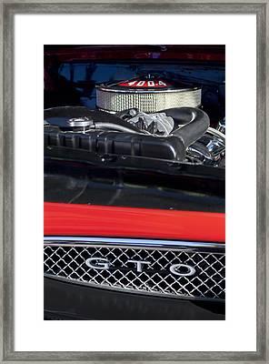 1967 Pontiac Gto Engine Emblem Framed Print by Jill Reger