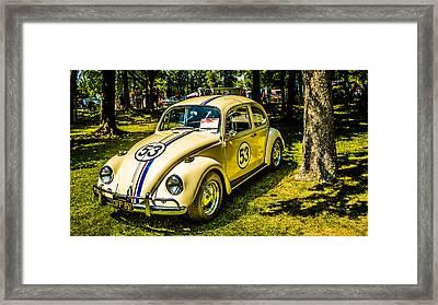 1967 Volkswagen Beetle Framed Print by Carlos Cano