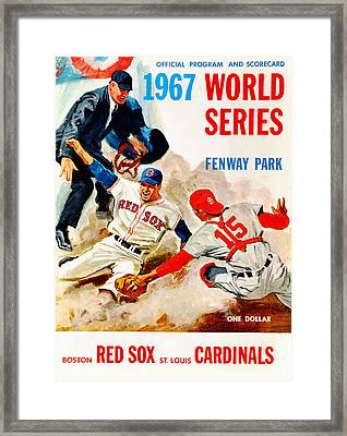 1967 World Series Program Framed Print by Big 88 Artworks