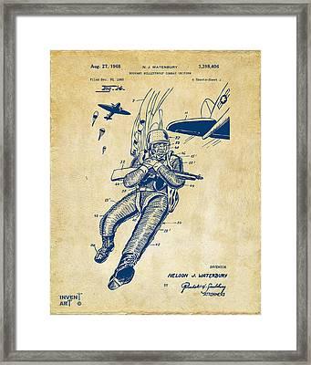 1968 Bulletproof Patent Artwork Figure 14 Vintage Framed Print by Nikki Marie Smith