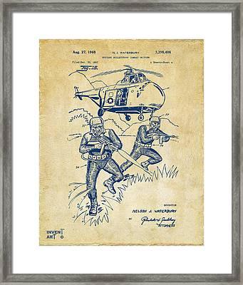 1968 Bulletproof Patent Artwork Figure 15 Vintage Framed Print by Nikki Marie Smith