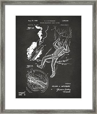 1968 Bulletproof Patent Artwork Figure 16 Gray Framed Print by Nikki Marie Smith