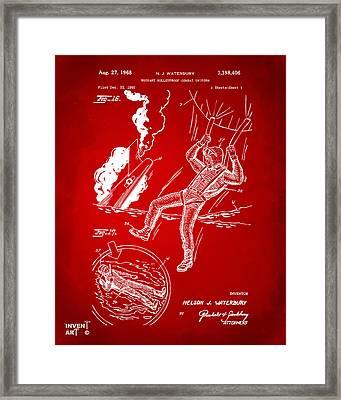 1968 Bulletproof Patent Artwork Figure 16 Red Framed Print by Nikki Marie Smith