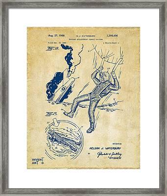 1968 Bulletproof Patent Artwork Figure 16 Vintage Framed Print by Nikki Marie Smith