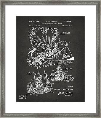 1968 Bulletproof Patent Artwork Figure 18 Gray Framed Print by Nikki Marie Smith